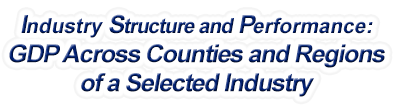 North Dakota - Gross Domestic Product Across Counties and Regions of a Selected Industry